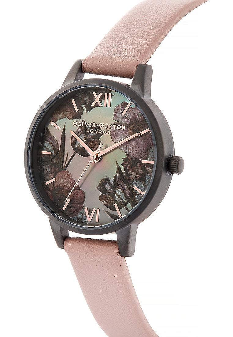 Olivia Burton Reloj de Pulsera analógico Cuarzo One Size, Gris, Rosa: Amazon.es: Relojes
