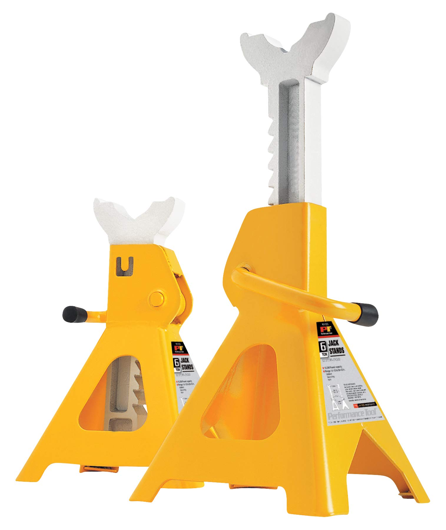 Performance Tool W41023 6 Ton (12,000 lbs.) Capacity Heavy Duty Jack Stand set by Performance Tool