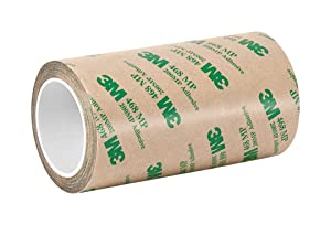 """3M 6-5-468MP (CASE of 2) Adhesive Transfer Tape 468MP, 6"""" Wide, 5 yd. Length, Clear (Pack of 2)"""