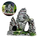 Poity Aquarium Fish Tank Ornament Rockery Hiding Cave Landscape Decor Underwater Decor