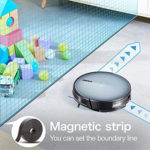 Proscenic Aspirateur Robot 830T, Connecté Wi-Fi et Alexa, avec réservoir d'eau 350ML, Nettoyage Efficace sur Programmation, Aspiration Puissante Sur Tapis et Sol.2020 Nouvelle Version. - Home Robots