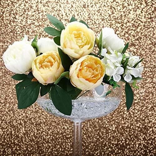 Mikash 18 Clear Plastic Vases Stands Wedding Party Centerpieces Reception Decorations | Model WDDNGDCRTN - 14440 | 8 Pieces