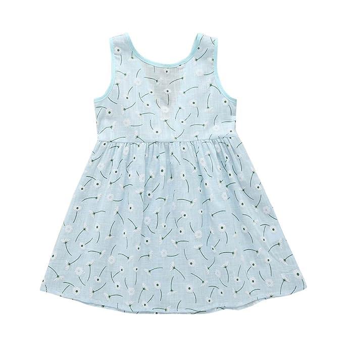 Vestido para niña Puntos Floral Imprimir Vestido de Bowknot Princesa Vestido para Bautizo Bebé Niñas sin