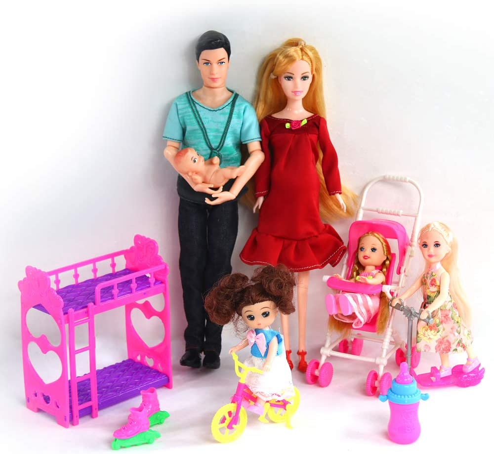Pro Pregnant real educational Family 5 people Dool Gifts Mid Happy !!