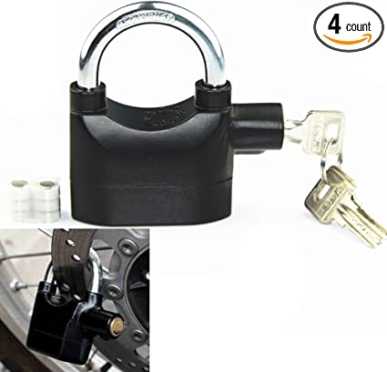 Alarm Heavy Duty Padlock Loud Siren Bicycle Shed Motion Sensor Security 110 Lock