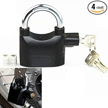 LOOYUAN Alarm Lock Anti-theft Motion Sensor Security Padlock with 3 Keys