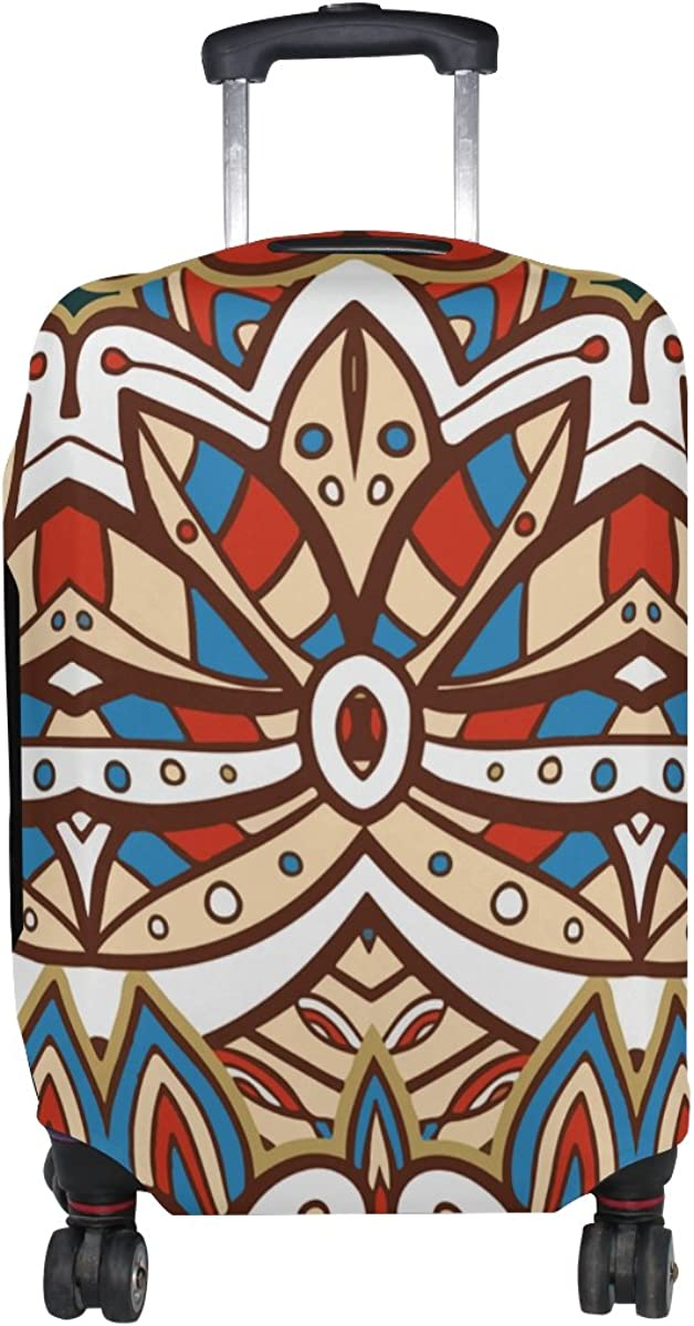 Jennifer American India Ethnic Aztec Pattern Travel Luggage Covers Suitcase Protector Fits 18-20 in