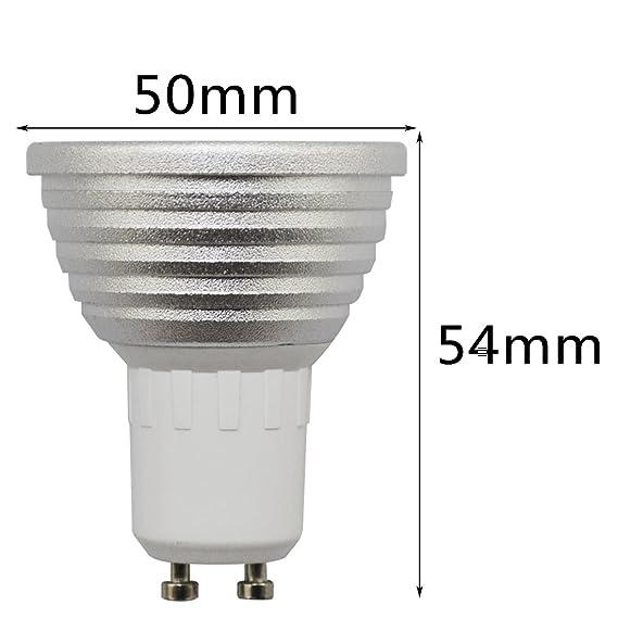 Stimmungslicht LED-Spot Beleuchtung mit Fernbedienung RGB-Farbwechsel Dekorationslicht 16/Farben RC 3/W LED-Leuchtmittel dimmbar GU10 Strahler RGB Leuchtmittel