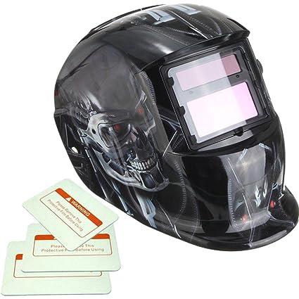 Profesional Solar soldadura de Oscurecimiento Automático casco arco Tig Mig soldador máscara de Terminator