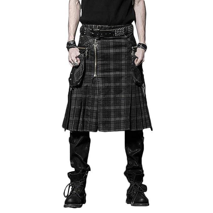 Amazon.com: Punk Rave Steampunk - Falda para hombre, estilo ...