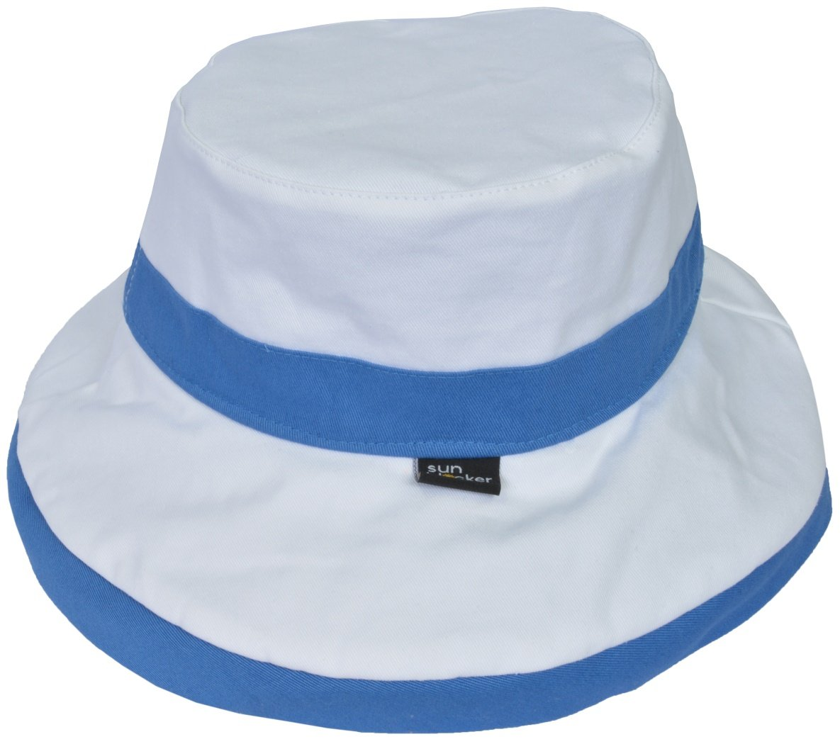 Women\'s Sun Hat Reversible Bucket Cap UPF 50+ Outdoor Travel Beach Hat Blue