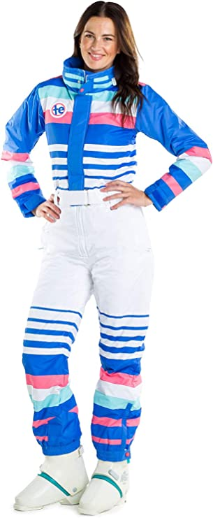 Vintage High Waisted Trousers, Sailor Pants, Jeans Tipsy Elves Womens ICY U 80s Ski Suit - Female Retro Inspired Snowsuit $199.95 AT vintagedancer.com