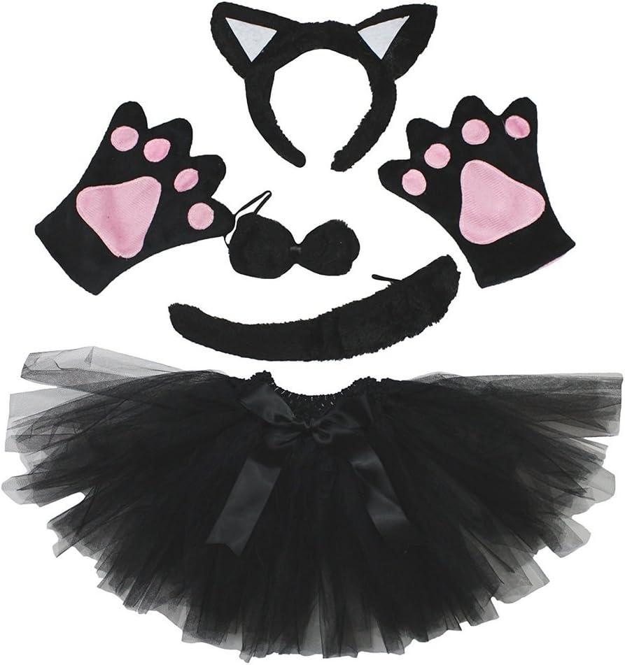 Petitebelle Diadema Bowtie Guantes de cola Tutu niña Disfraz de 5 ...