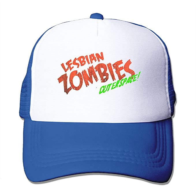 e97e9af0975 Amazon.com: Lesbian Zombies From Outer Space Fitted Mesh Trucker Cap:  Clothing