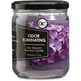 Lilac Blossom Candle - Odor Eliminating Highly Fragranced Candle - Eliminates 95% of Pet, Smoke, Food, and Other Smells Quick