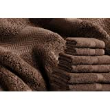 2x CHOCOLATE BROWN 100% EGYPTIAN COTTON LUXOR BATH TOWELS ULTRA ABSORBENT 600GSM HOTEL QUALITY by Restmor Luxor
