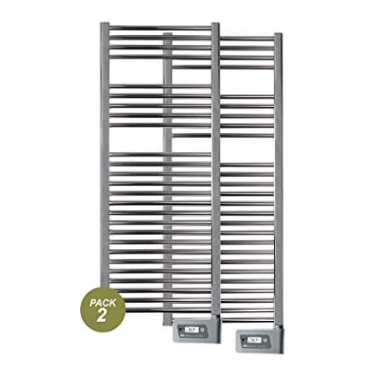 farho - Pack 2 X Toalleros Eléctricos Baño Serie Nova Cromado 800 W y Medidas (