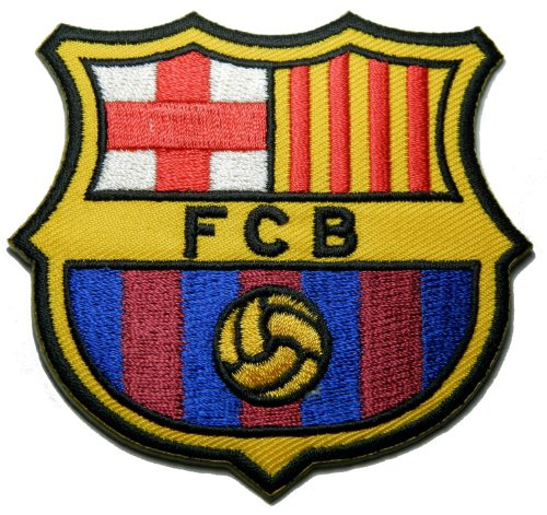 FCB Barcelona Espagne Fc Patch Patch Sew Iron on Logo Embroidered Badge Sign Emblem Costume BY ()