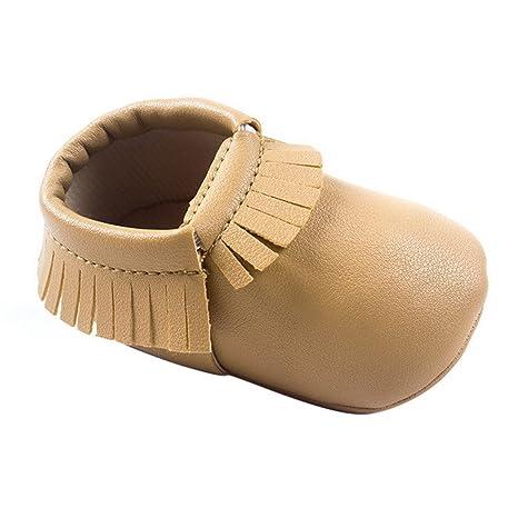 Happy Cherry Zapatos con Borlas Mocasines de PU Piel Suaves Zapatitos Primeros Pasos Calzado Infantil para