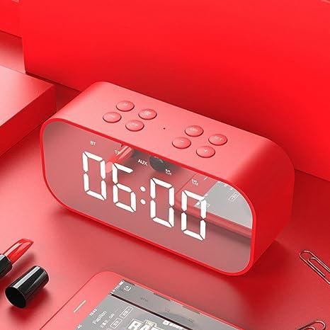 W&lx Reloj despertador, Música despertador estudiante creativa luz nocturna noche mudo reloj digital niño despertador