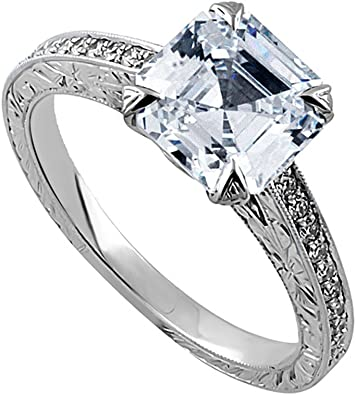 Size-7.25 1//10 cttw, 3 Diamond Promise Ring in 10K Pink Gold G-H,I2-I3
