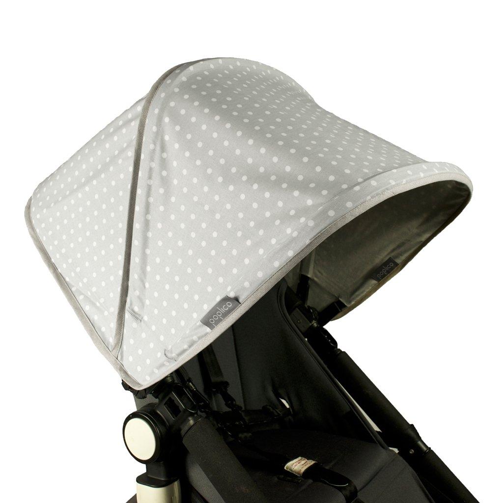 Poplico - Tettuccio parasole pieghevole per passeggino Bugaboo Cameleon RCCROS