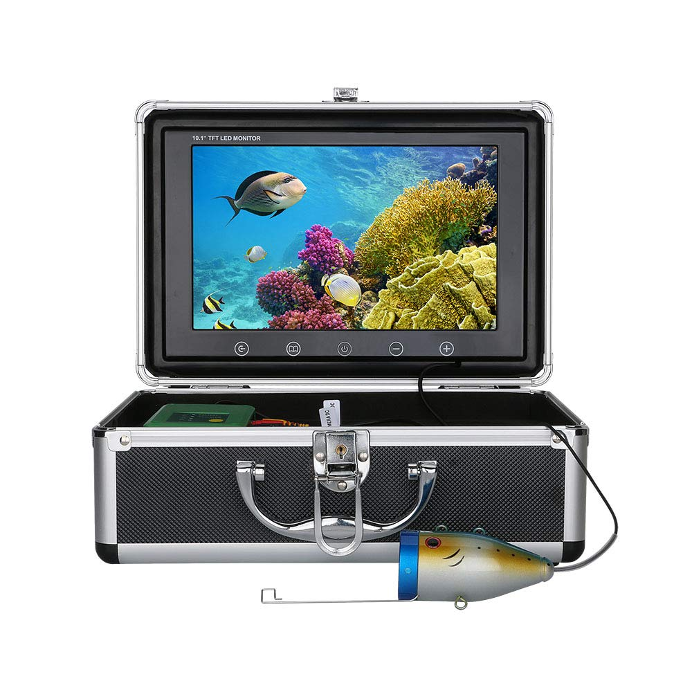 MAOTEWANG 9 Inch 30M 1000TVL Fish Finder Underwater Fishing Camera 15pcs White LEDs 15pcs Infrared Lamp for Ice//Sea//River Fishing