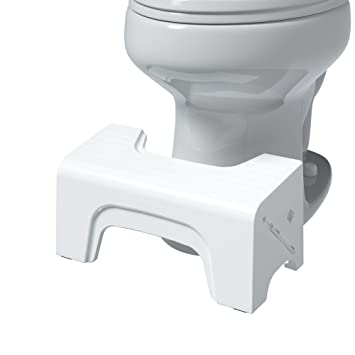 Magnificent Squatty Potty Fold N Stow Compact Foldable Toilet Stool White 7 1 Lb Short Links Chair Design For Home Short Linksinfo