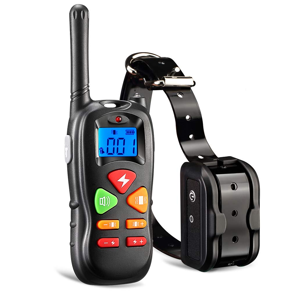 Ticent Dog Training Collar with Remote Controller Shock Collar for Small Medium Large Dogs, 1000ft Rechargeable Waterproof Dog Training Collar with Beep/Vibration/Electric Shock [2018 Upgraded]