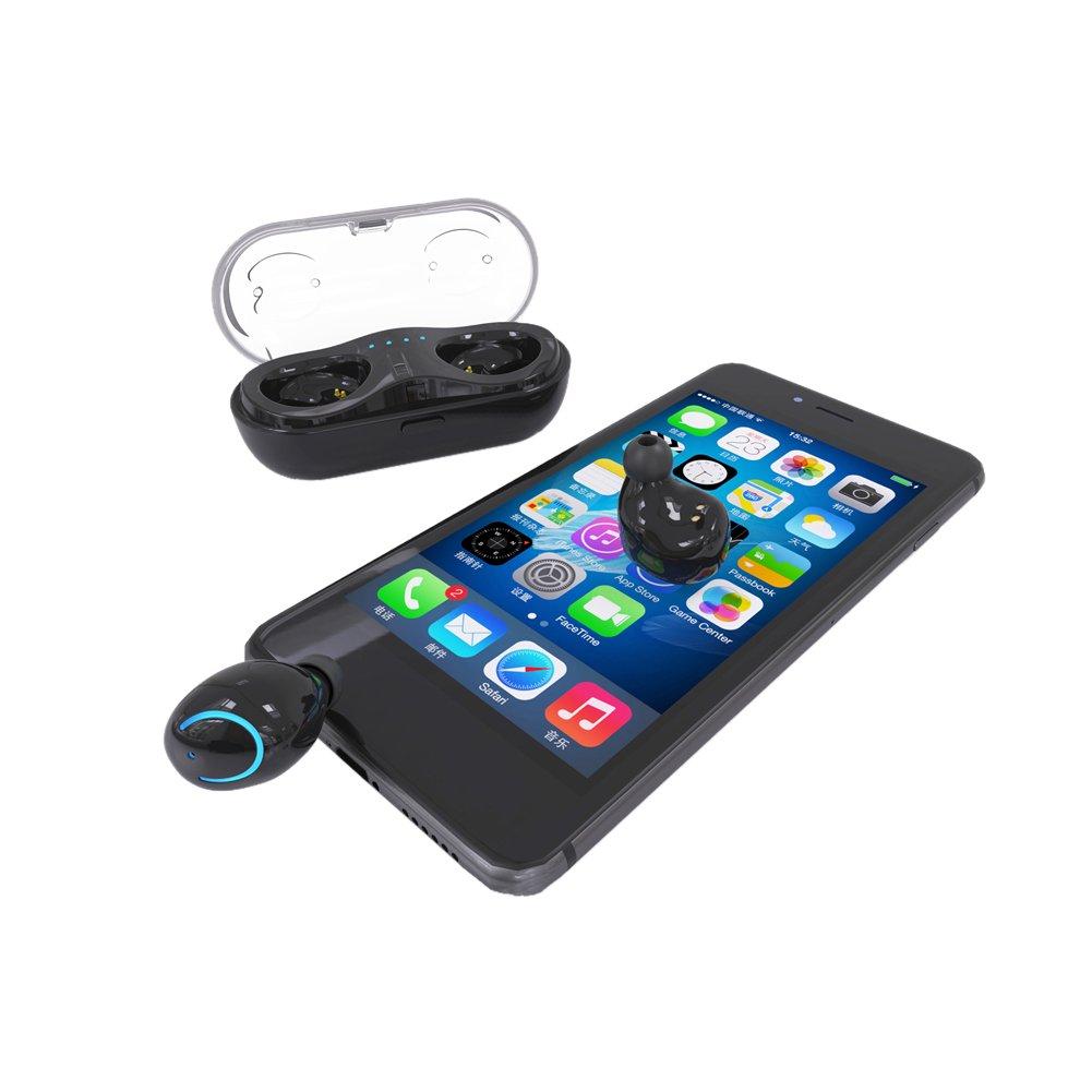 Mini Hifi® Auriculares inalámbricos Bluetooth Q18 estéreo auriculares nuevos Stealth In-Ear estilo auriculares deportivos coche perfecta calidad de sonido ...