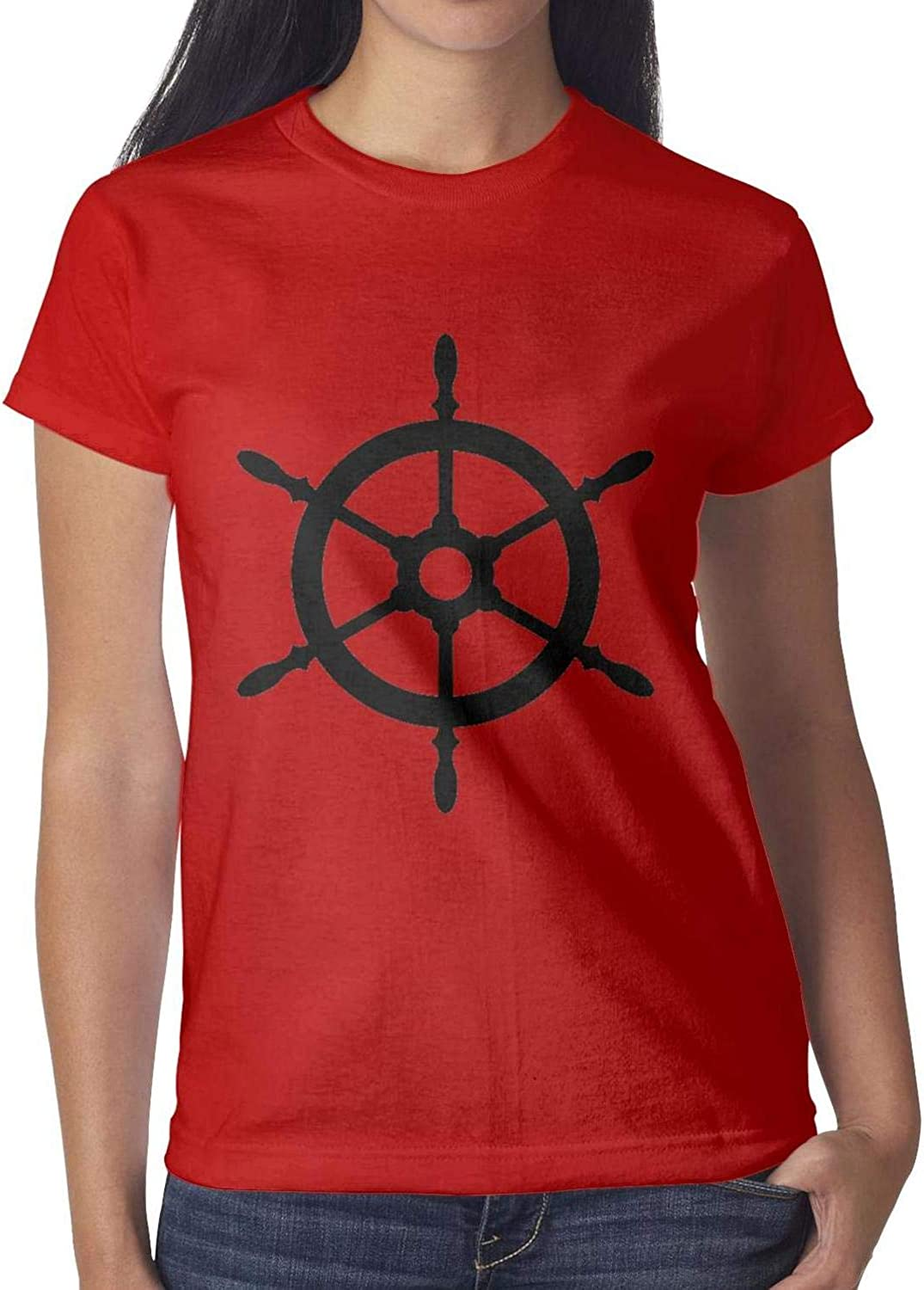 Tee Solid Cotton Shirts Girls Tops Ships Wheel Silhouette Assorted