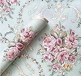 BESTERY Vintage Floral Self-Adhesive PVC Contact Paper Shelf Liner Peel & Stick Dresser