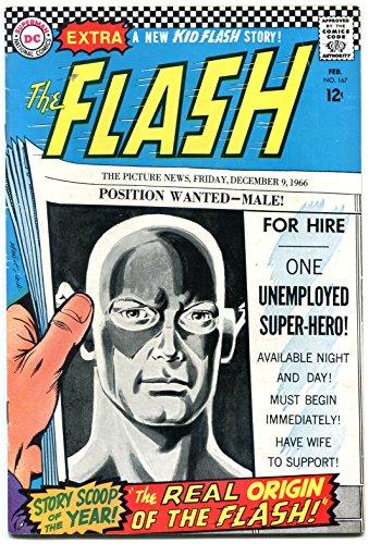 Flash #167 1967-DC Silver Age- New Origin issue - Flash 167