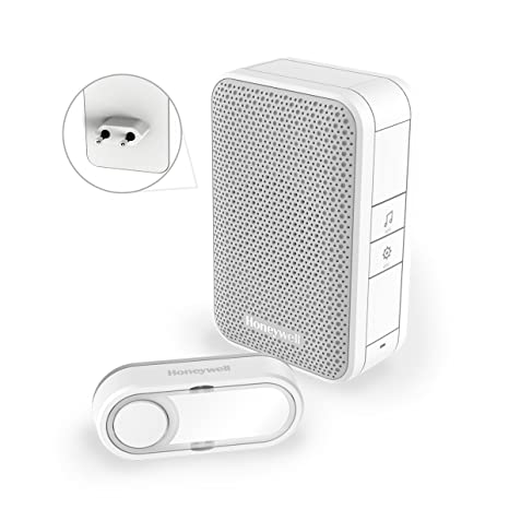 Honeywell DC312SP2USB – Timbre Enchufable 6 Melodías y Toma de Carga USB de 2A, Color