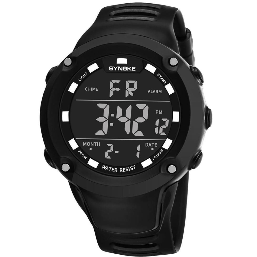Relojes Hombre,❤LMMVP❤Multi función de los hombres deportes militares reloj LED digital de doble movimiento reloj (Negro): Amazon.es: Relojes