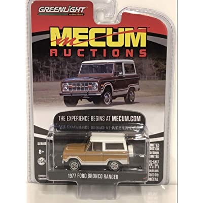 "1977 Ford Bronco Ranger Cinnamon Brown and White (Indianapolis 2020)""Mecum Auctions Collector Cars Series 3 1/64 Diecast Car by Greenlight 37170 E: Toys & Games"
