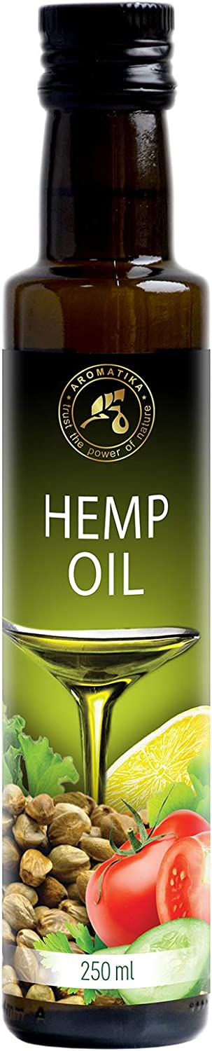 Aceite de Semillas de Cáñamo 250ml - 100% Puro y Natural - Aceite Base - Cannabis Sativa Seed Oil - Hemp oil