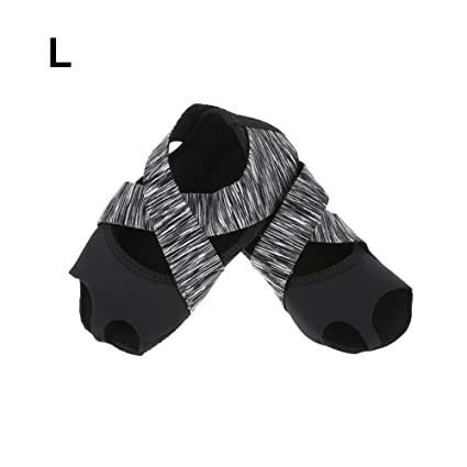 Dioche Yoga Socks for Women, Non-Slip Yoga Pilates Barre Socks Soft Wrap Half Toe Dance Training Shoes for Pilates Barre Ballet Grey