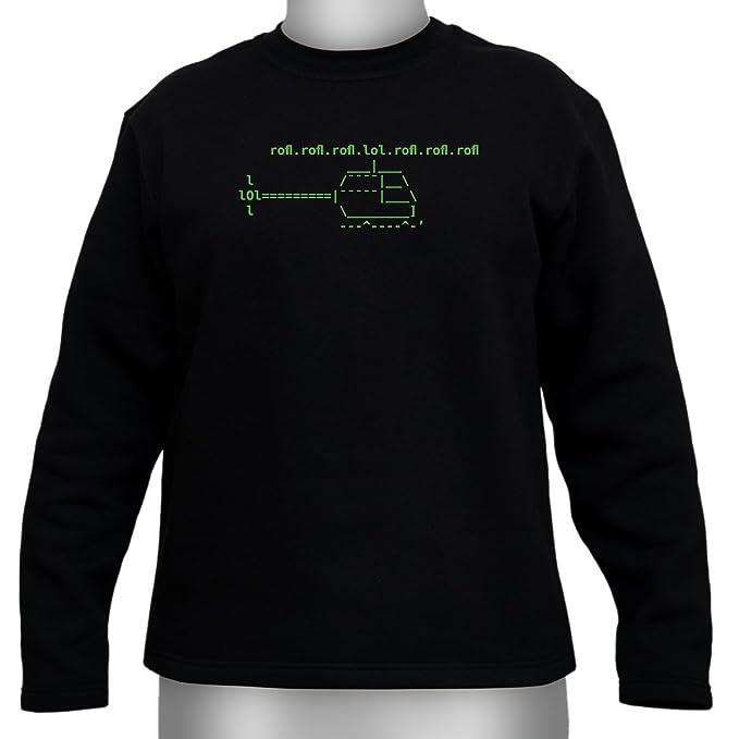 ASCII roflcopter - Sudadera para gamer y Geeks negro X-Large: Amazon.es: Ropa y accesorios
