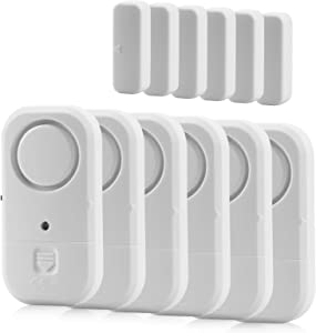 Window Door Alarms, Toeeson 120 DB Pool Alarms for Door, 2020 Newest White Magnet Sensor Security Alarms