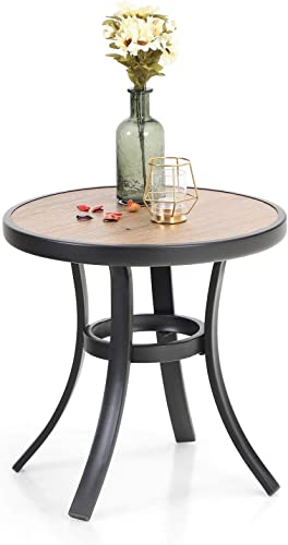 Sophia William 19 Patio Side Table Outdoor Metal Small Round Side End Table