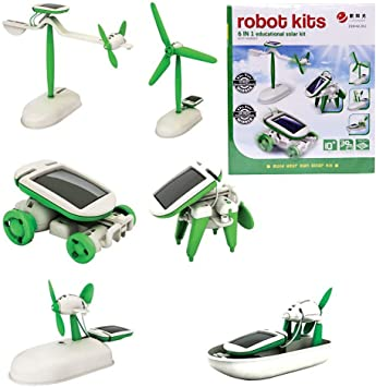Educational 6 in 1 Solar Power Energy Robot Kits