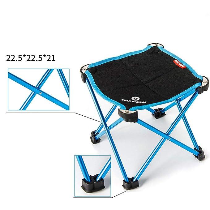 Silla Plegable Camping Plegable Ideal para Acambaca Senderismo Viaje Caza Pesca: Amazon.es: Deportes y aire libre
