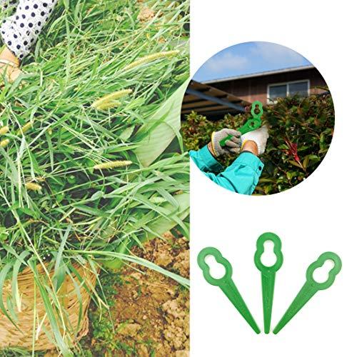 (10 Pcs Plastic Trimmer, Replacement Gardening Weeder Lawn Cutter Mower Cutting Blades for RT250 Garden Lawn Trimmer Accessories)