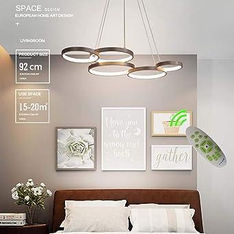 Jsyuany Modern LED Lámparas Araña Regulable con Control Remoto ...