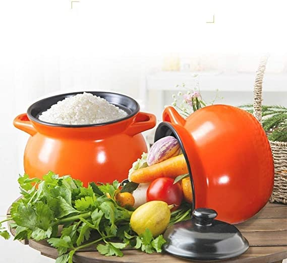 Color : A EAHKGmh Casserole Dish with Lid Stovetop Ceramic Cookware Round Cooking Pot Clay Pot Cookware Heat-Resistant Large Capacity 3.5L