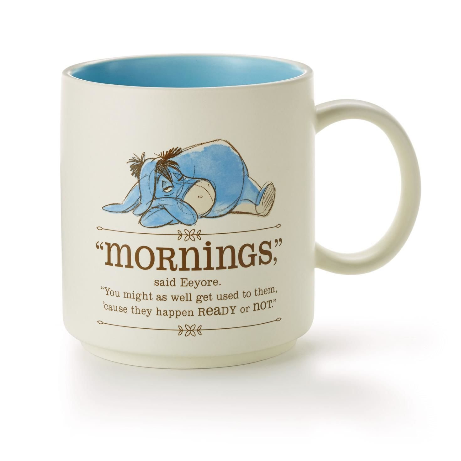 Eeyore ''Mornings'' Coffee Mug from Winnie the Pooh