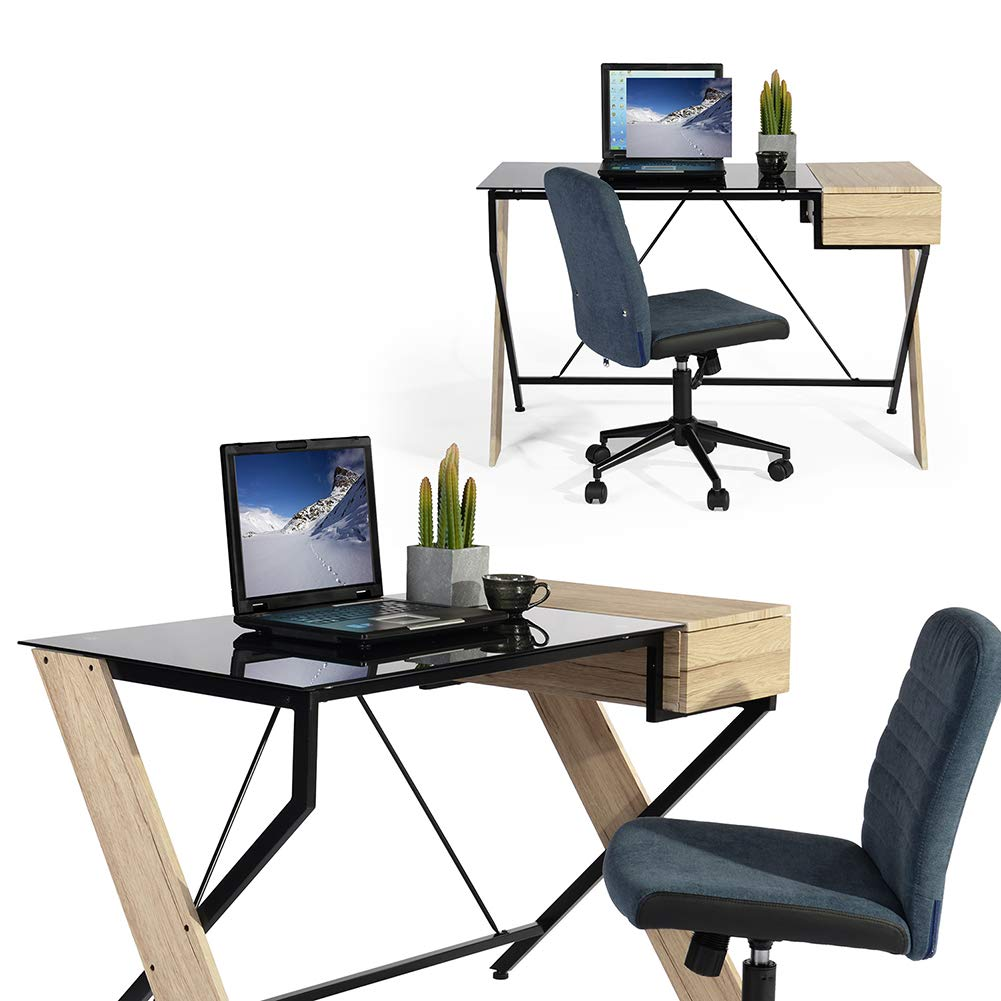 GreenForest Computer Desk Chair with Wheels Headrest, Office Chair Ergonomic High Back with Back Support for Home Office, Black Knewlife