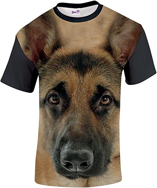 German Shepherds Live Forever All Over Adult T-Shirt