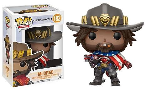 f0df8b8a064 Amazon.com  POP! Games  Overwatch USA McCree Exclusive Vinyl Figure ...